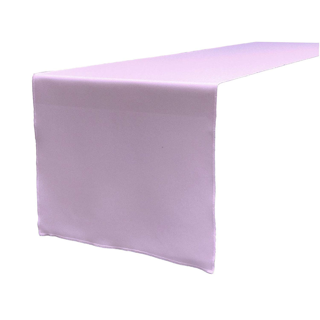 Polyester Poplin Table Runner 12 by 72-Inch, Lilac - KINGDOM OF FABRICS