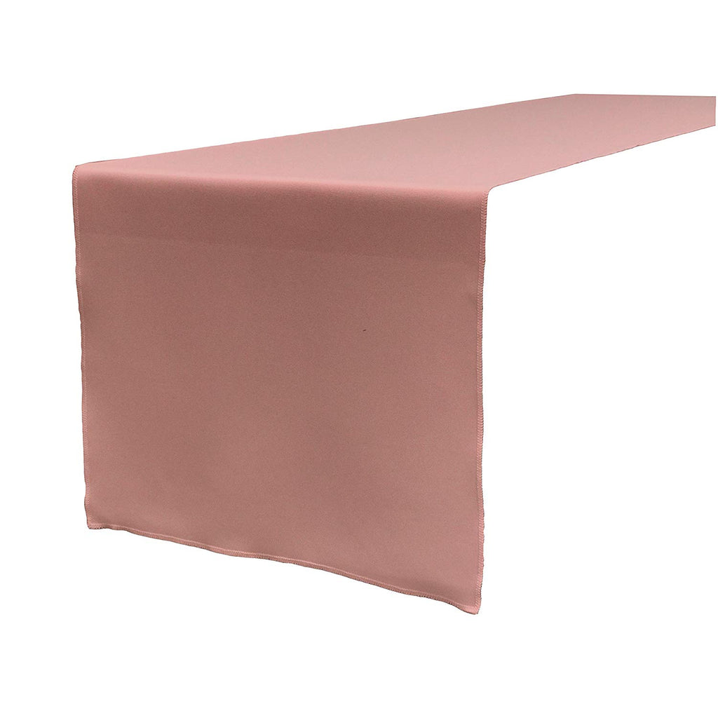 Polyester Poplin Table Runner 12 by 72-Inch, Dusty Rose
