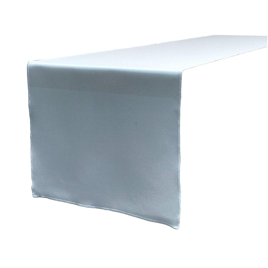Polyester Poplin Table Runner 12 by 72-Inch, Light Blue