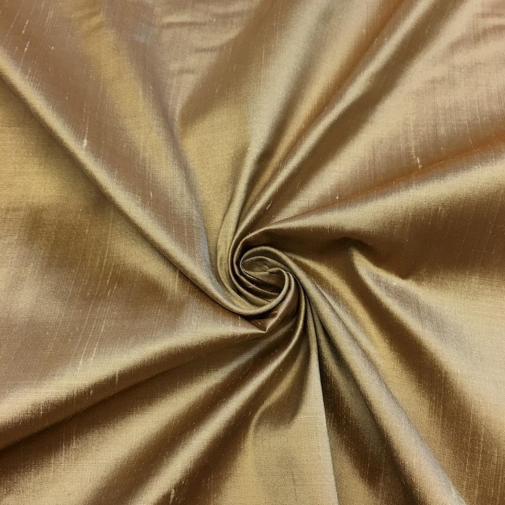 "Champagne 100% Pure Silk Shantung Fabric 54""Wide BTY Drape Blouse Dress Craft Sold By The Yard. - KINGDOM OF FABRICS"