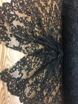 Black Prom Beaded Fabric Wedding Mesh Shop Mesh Lace Beaded Fabric By The Yard Lace Heavy Beads For Bridal Veil Fashion Fabric - KINGDOM OF FABRICS