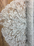 Off White Prom Beaded Fabric Wedding Mesh Shop Mesh Lace Beaded Fabric By The Yard Lace Heavy Beads For Bridal Veil Fashion Fabric