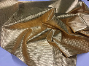 LATTICE BASKET WEAVE UPHOLSTERY VINYL FABRIC - Gold - BY THE YARD PU LEATHER - KINGDOM OF FABRICS