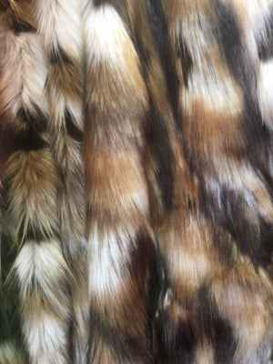 Faux Fake Fur Animal Coat Costume Fabric / Top Exotic Designs # 3 / Sold By The Yard