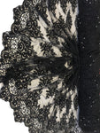 Zohar Designs Beaded Mesh Lace Black Beaded Fabric Lace Fabric By The Yard Embroider Beaded On A Mesh For Bridal Veil