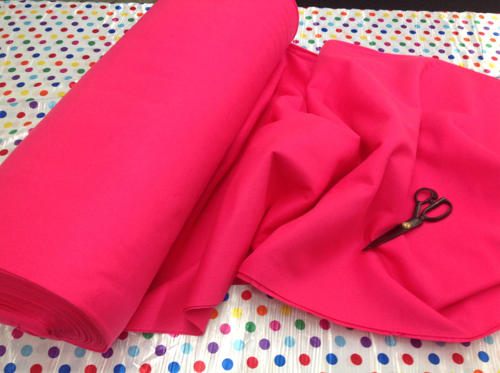 "Solid Acrylic Felt Fabric - NEW FUCHSIA - Sold By The Yard - 72"" Width - KINGDOM OF FABRICS"