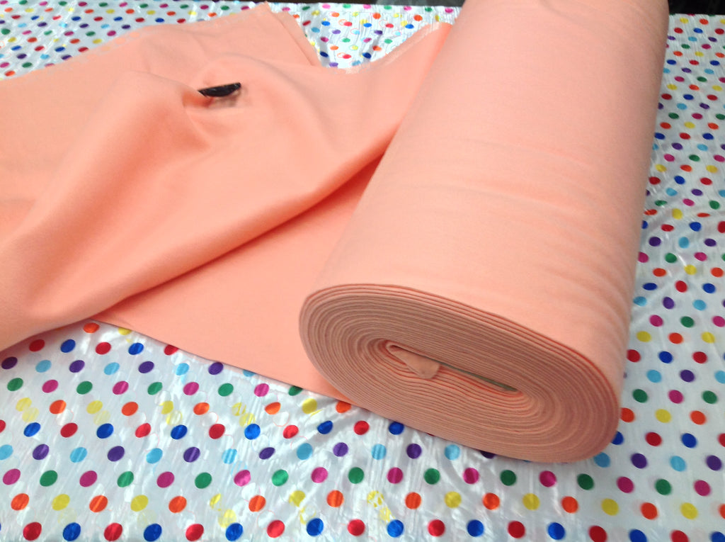 "Solid Acrylic Felt Fabric - NEW PEACH - Sold By The Yard - 72"" Width - KINGDOM OF FABRICS"