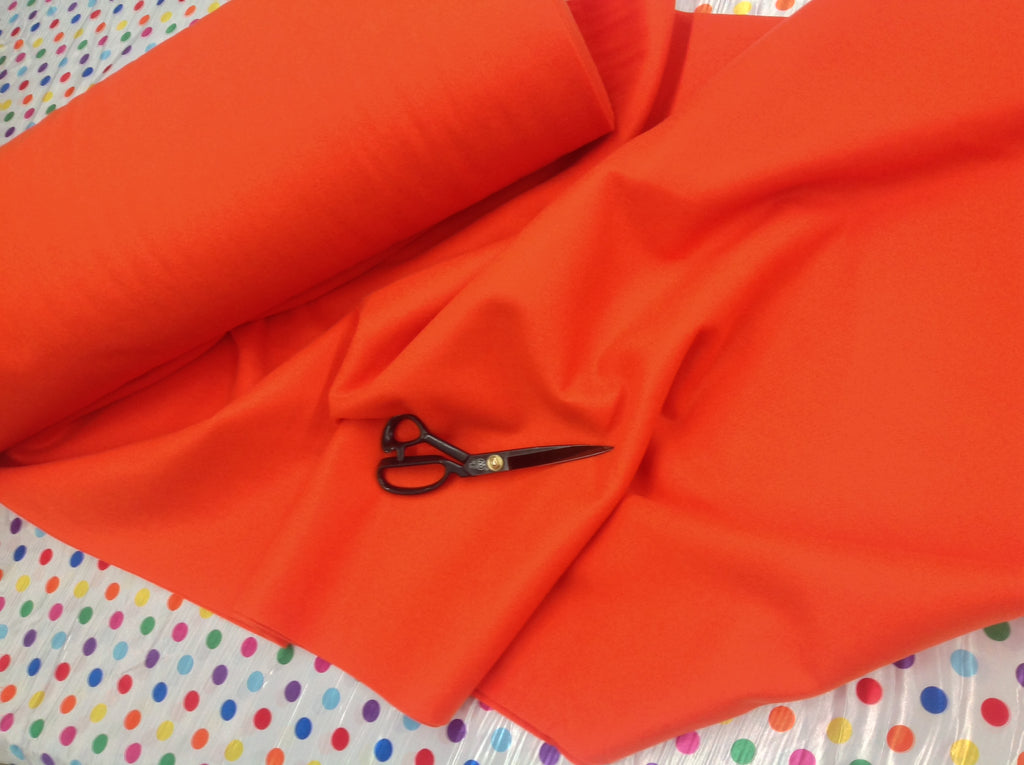 "Solid Acrylic Felt Fabric -NEW ORANGE - Sold By The Yard - 72"" Width - KINGDOM OF FABRICS"