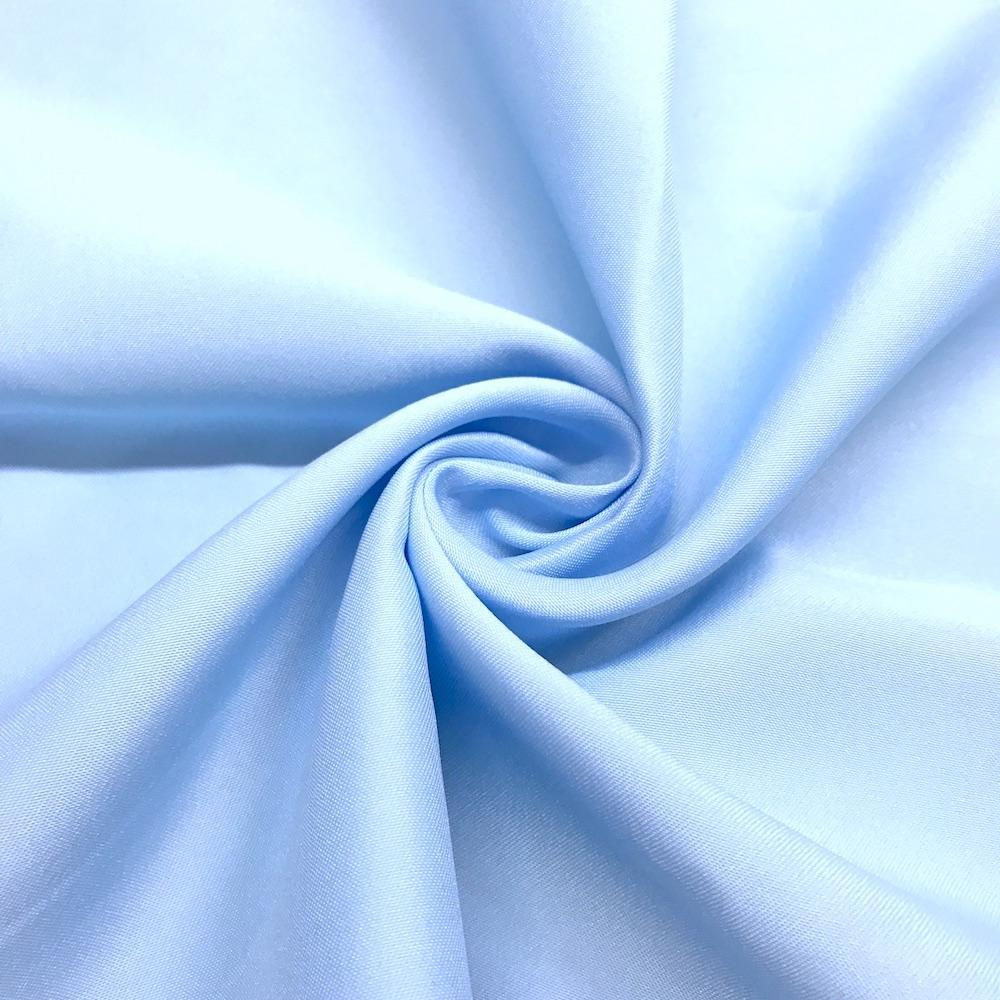 "Light Blue Matte Satin (Peau de soie) Dutchess Satin Fabric 60"" Inches 100% polyester By The Yard For Blouses, Dresses, Gowns and Skirts."