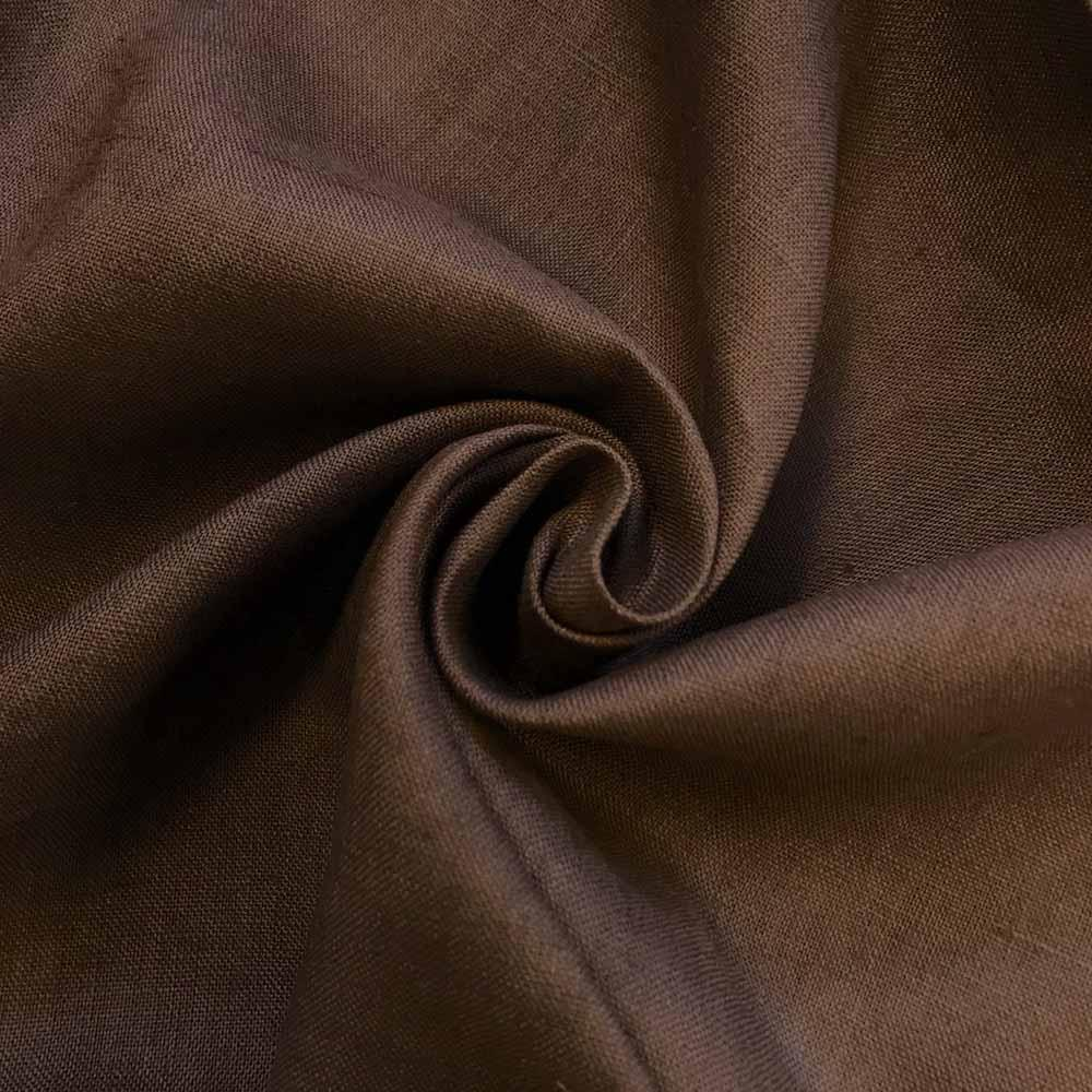 Linen Fabric Softened Linen Fabric by Yard Natural Linen Fabric Stonewashed Linen Fabric,Washed Linen Fabric Pure 100% Linen Fabric Brown