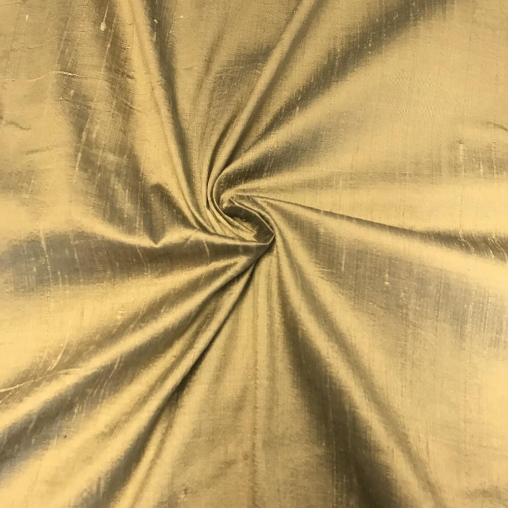 "Metallic Gold 100% Pure Silk Dupioni Fabric 54""Wide BTY Drape Blouse Dress Craft Sold By The Yard."