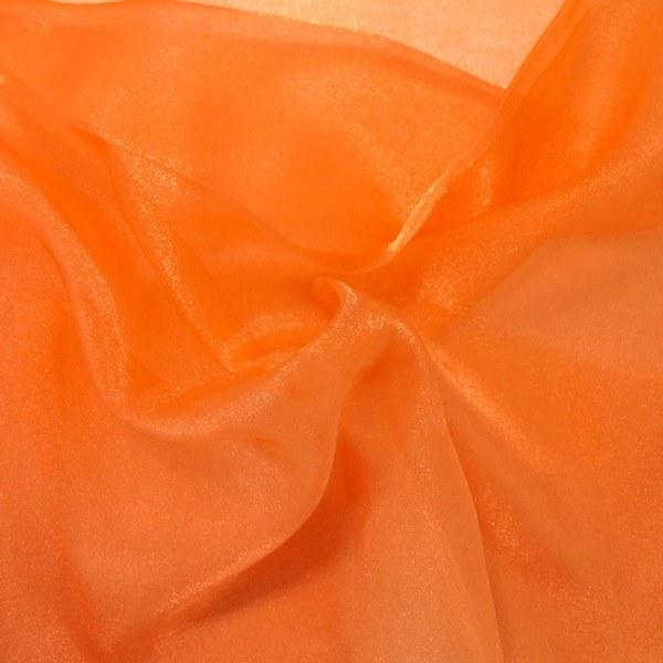 "Crystal Sheer Organza Fabric for Fashion, Crafts, Decorations 58"" By the Yard Orange"