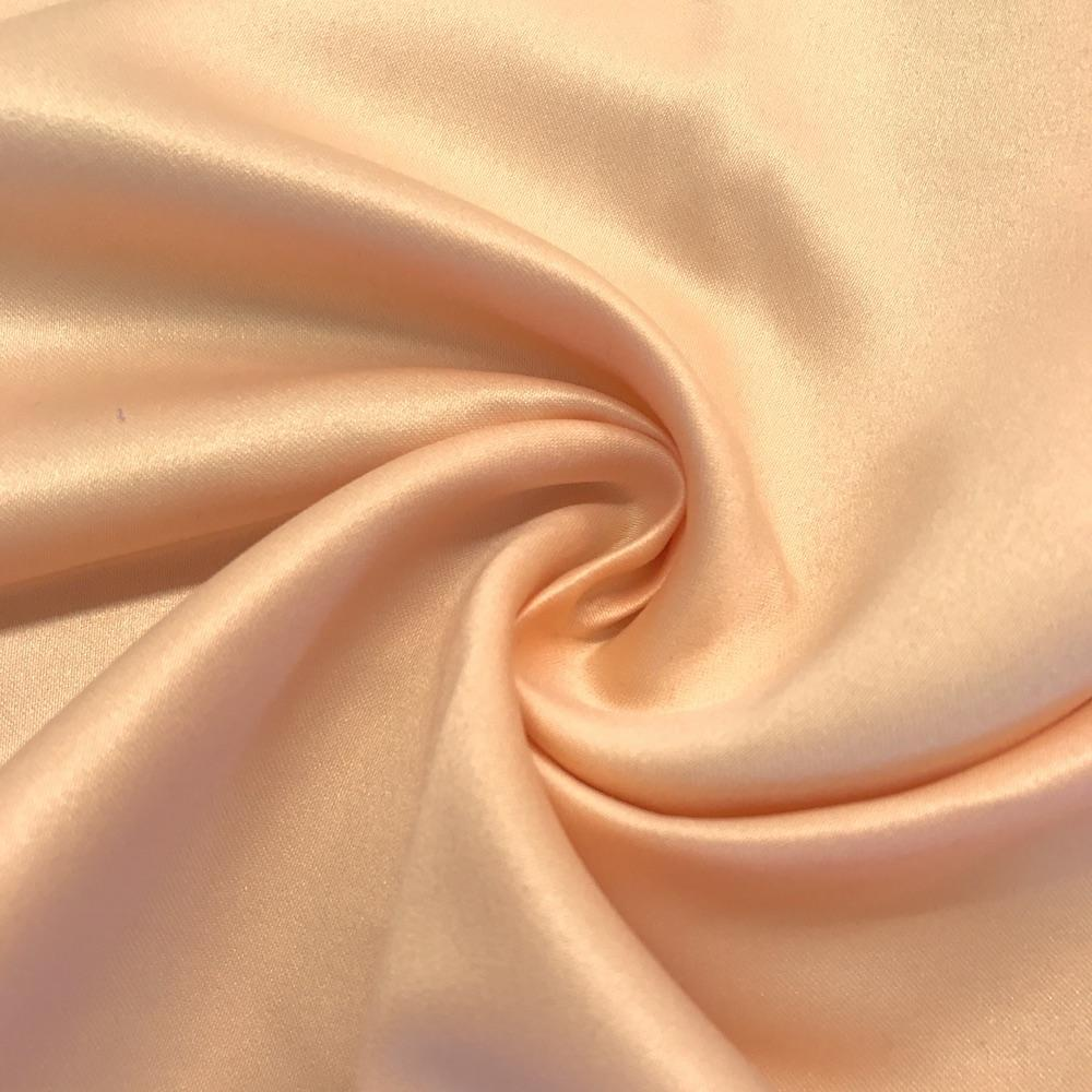 "Peach Matte Satin (Peau de soie) Dutchess Satin Fabric 60"" Inches 100% polyester By The Yard For Blouses, Dresses, Gowns and Skirts."