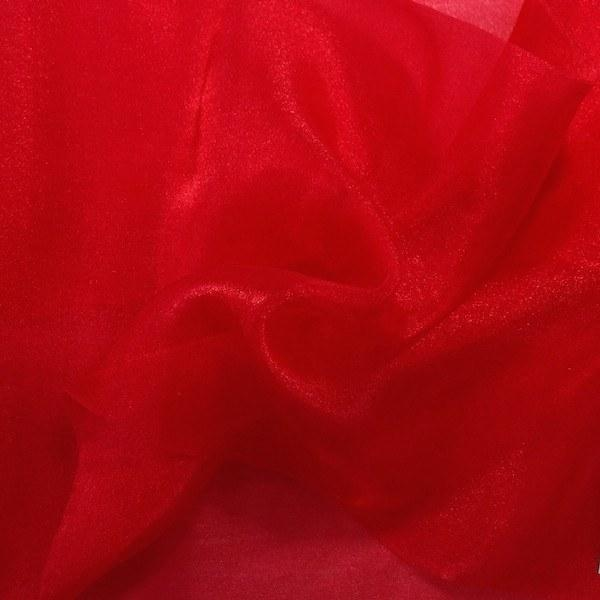 "Crystal Sheer Organza Fabric for Fashion, Crafts, Decorations 58"" By the Yard Red"