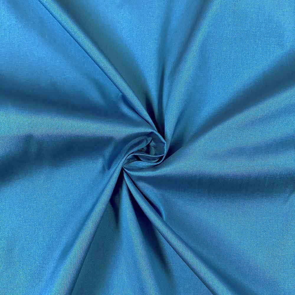 "Turquoise Polyester Taffeta Lining Fabric 54"" Wide Fabric Sold By The Yard."