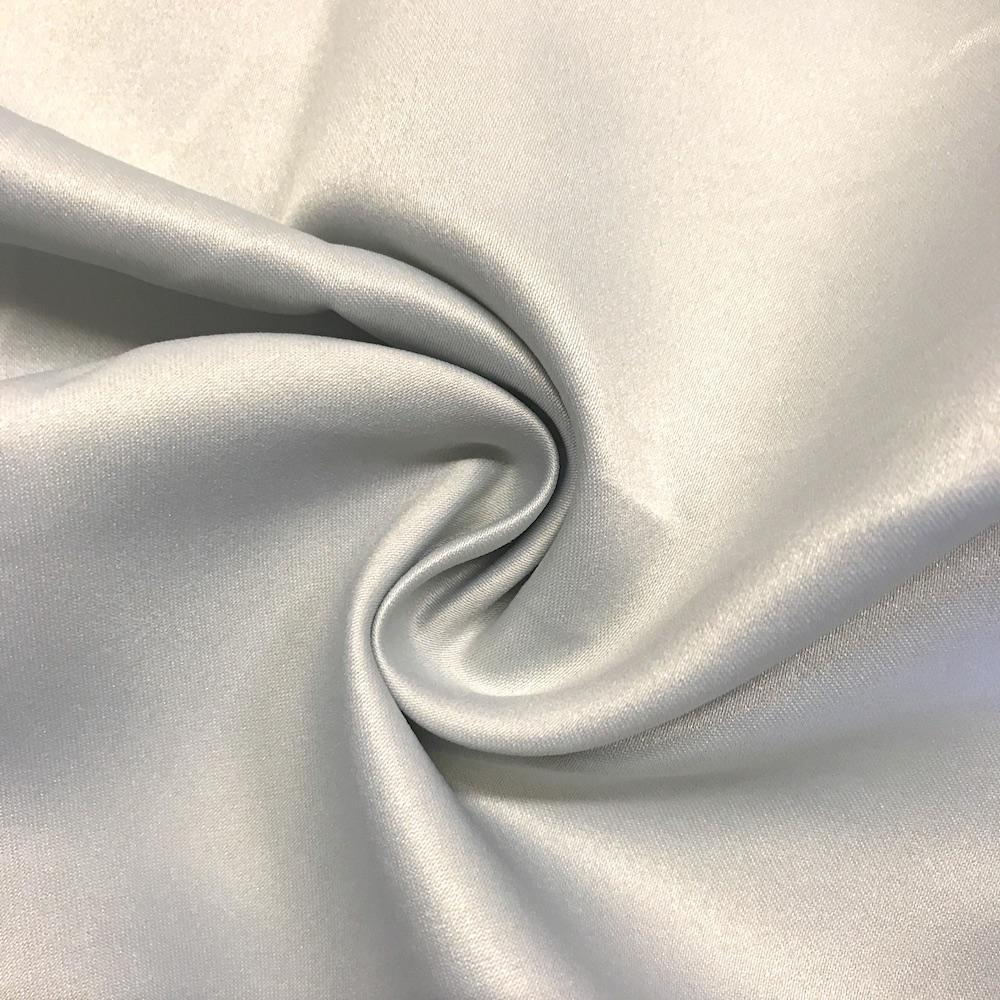 "Silver Matte Satin (Peau de soie) Dutchess Satin Fabric 60"" Inches 100% polyester By The Yard For Blouses, Dresses, Gowns and Skirts."