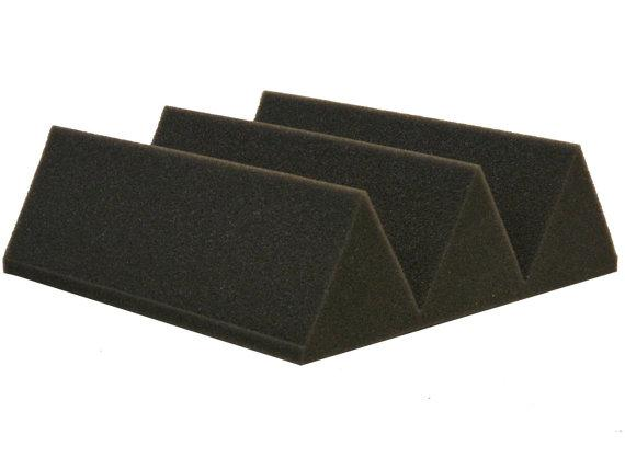 "Soundproofing Acoustical Foam 4"" x 12"" x 12"" Charcoal Acoustic Studio Wedge Foam 48 Pack by Professional Acoustics Foam"