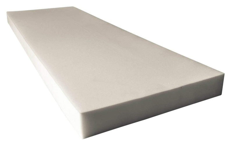 "Medium Density Seat Foam Rubber 1""x24""x82"" replacement upholstery cushion"