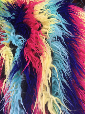 Rainbow Striped Faux Fur - Rainbow 3 - by the Yard Diy Costume Accessories