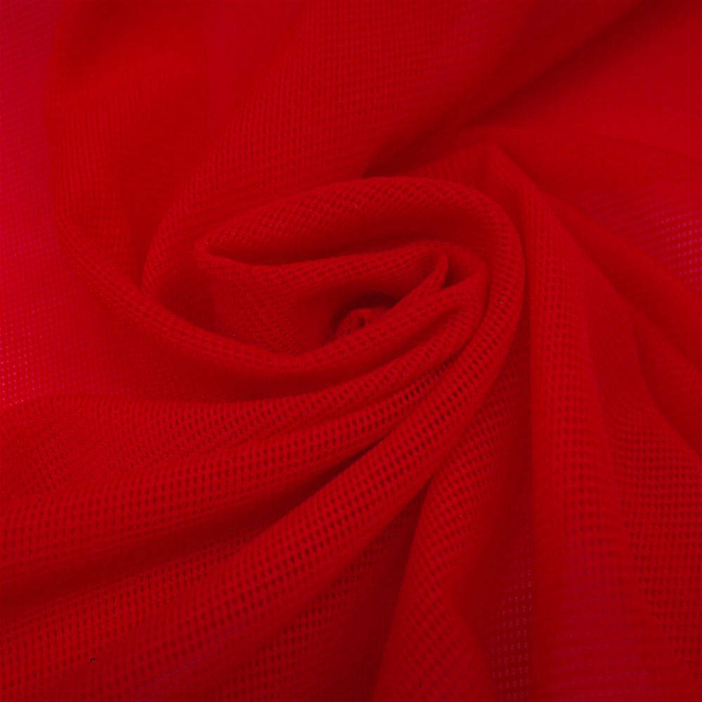 "Solid Power Mesh Fabric Nylon Spandex 60"" wide Stretch Sold by 5 yards Red - KINGDOM OF FABRICS"