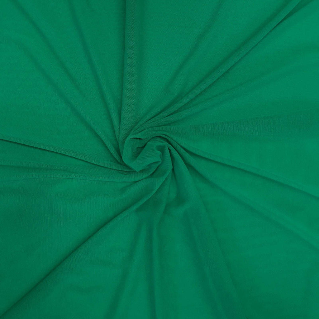 "Solid Power Mesh Fabric Nylon Spandex 60"" wide Stretch Sold by 5 yards Green - KINGDOM OF FABRICS"