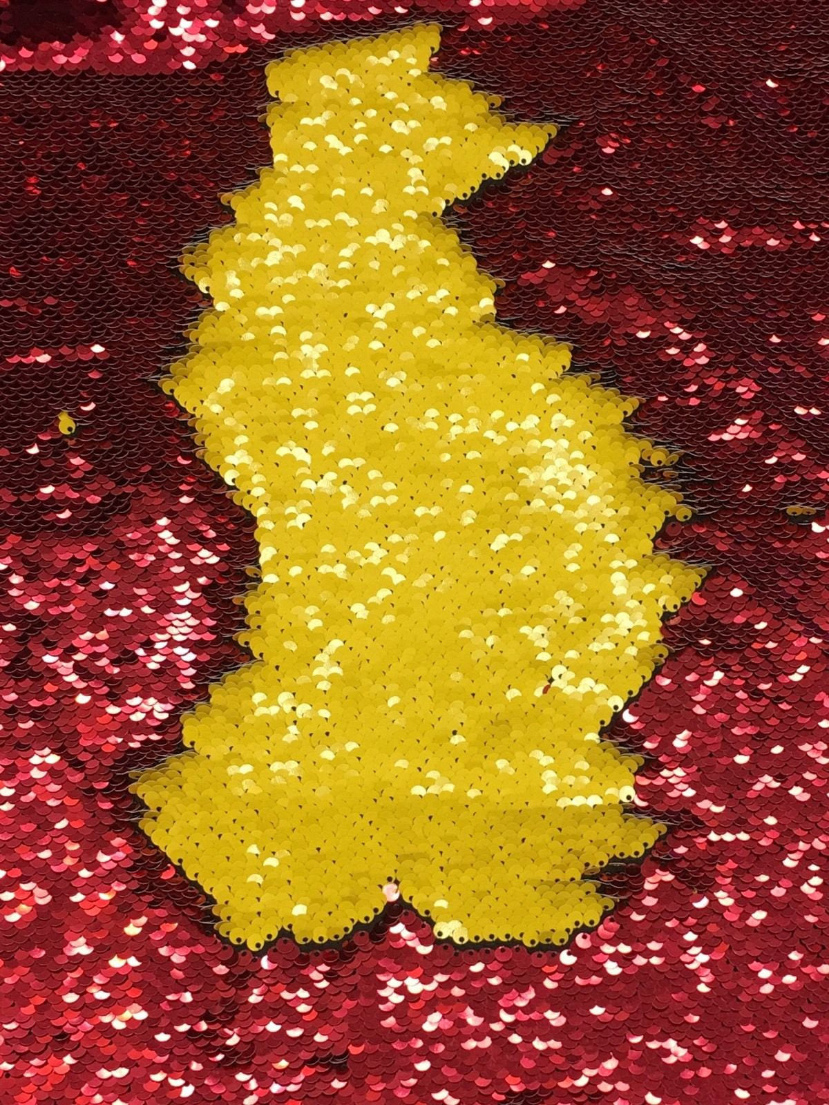 Mermaid Reversible Sequin Shiny Wine /shiny Yellow On Spandex Sold By Yard - KINGDOM OF FABRICS