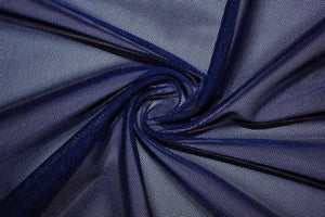 "Solid Power Mesh Fabric Nylon Spandex 60"" wide Stretch Sold by 5 yards Navy - KINGDOM OF FABRICS"