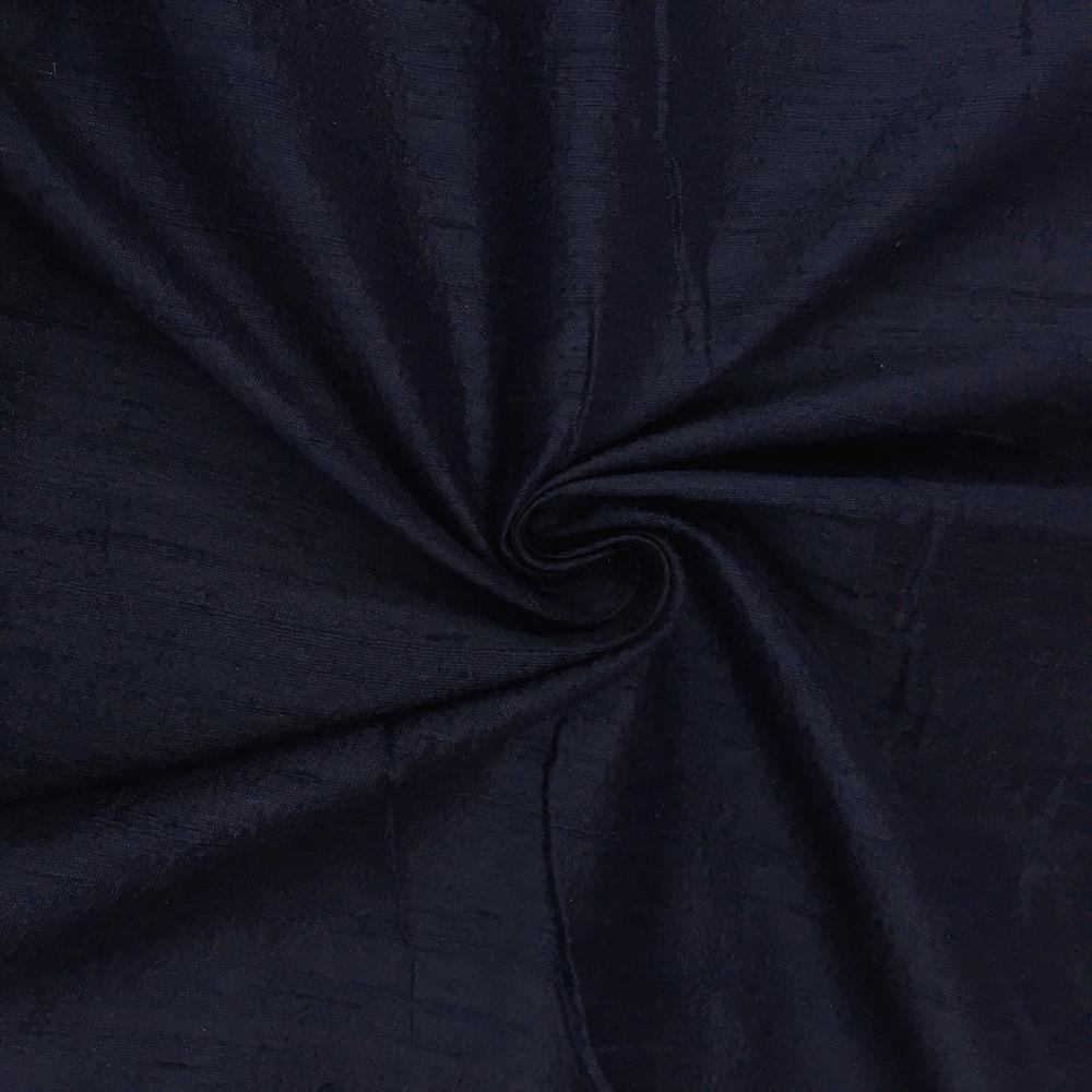 "Navy Blue 100% Pure Silk Dupioni Fabric 54""Wide BTY Drape Blouse Dress Craft Sold By The Yard."