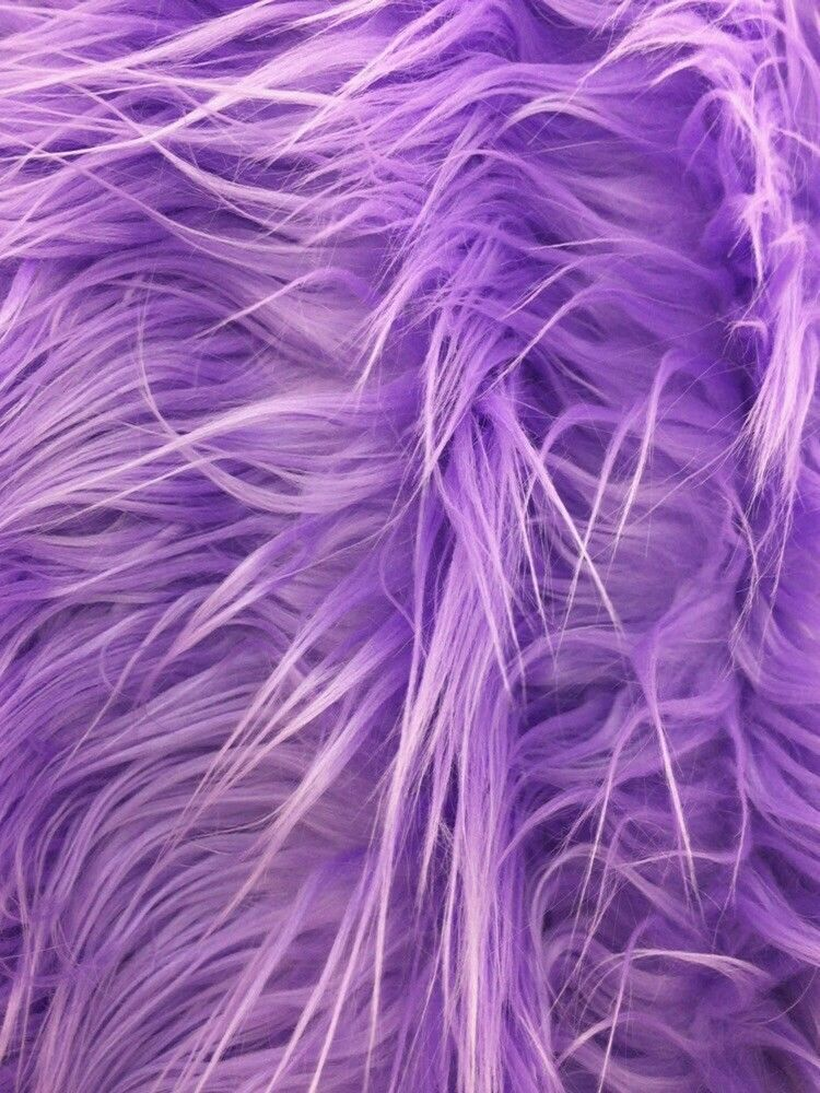 Fascinating Mongolian fake fur fabric lavender. Sold by the yard. - KINGDOM OF FABRICS