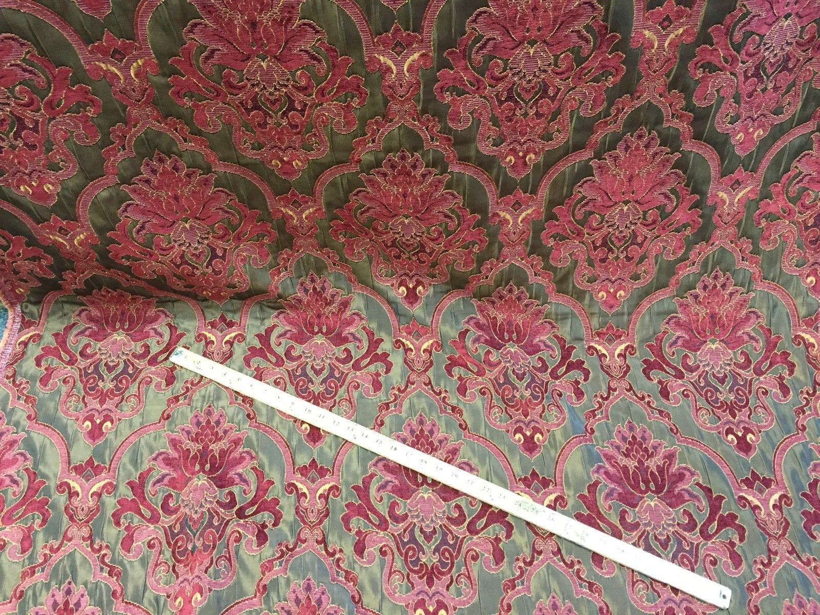 Chenille upholstery Drapery Damask Luxury Multi Color furniture fabric sold BTY - KINGDOM OF FABRICS