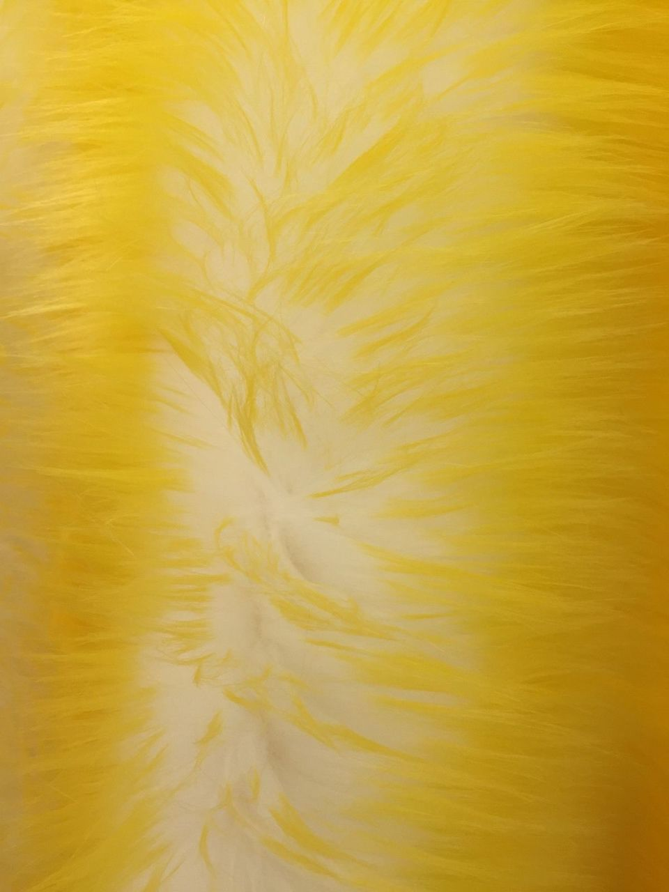 Super Soft Faux Fur Shaggy Twotone Fabric Yellow Offwhite. Sold By The Yard - KINGDOM OF FABRICS