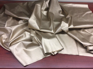"Gold 2 Way Stretch vinyl Clothing fabric 58"" width. Sold by yard - KINGDOM OF FABRICS"