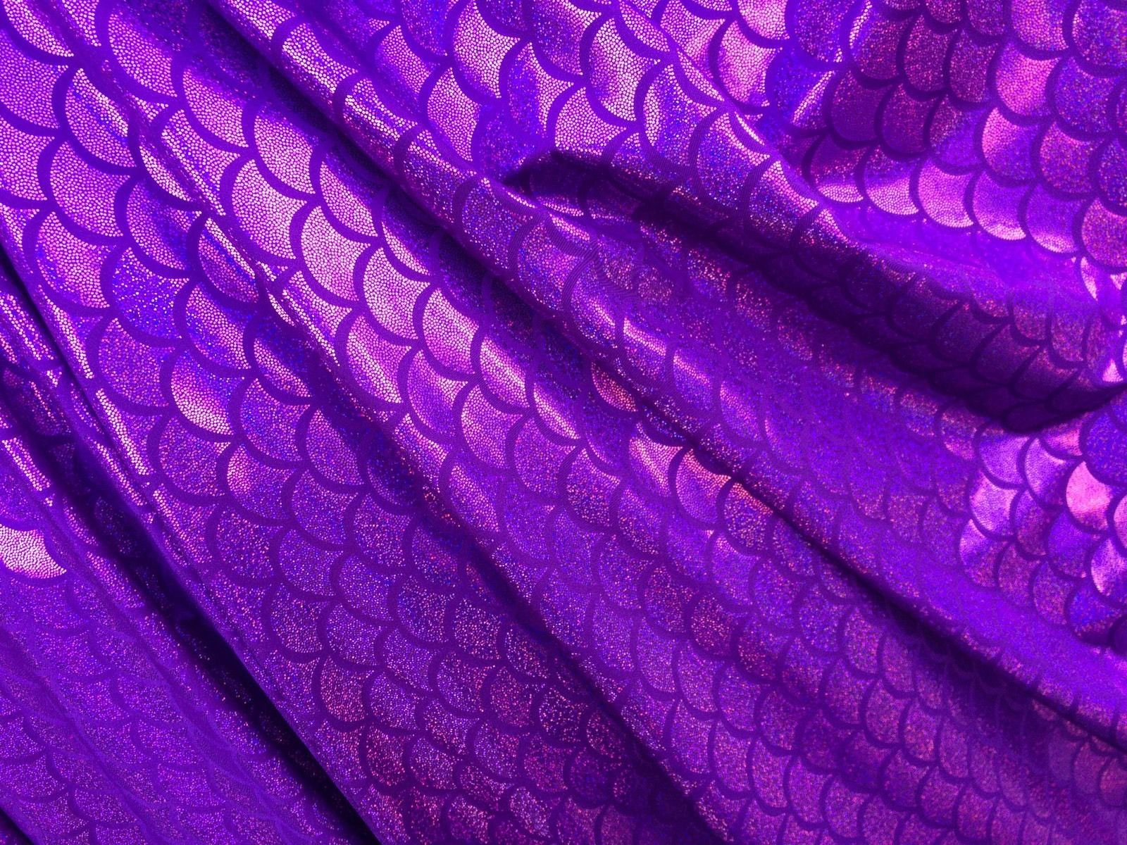 Magnificent Jumbo Fish Scale Purple Spandex Fabric. Sold By The Yard - KINGDOM OF FABRICS