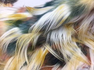 Fantastic Faux Fur Multicolor Animal Design. Sold By the yard - KINGDOM OF FABRICS