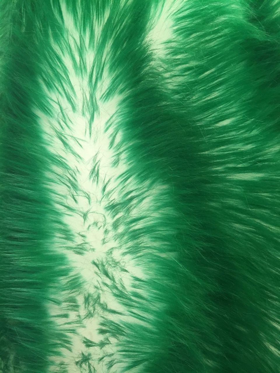 Green-Ivory Cotton Candy Design-shaggy Faux Fun Fur-2 Tone Soft Faux Fur-by Yard - KINGDOM OF FABRICS