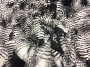 "FAUX FAKE FUR FEATHERED BIRD LONG PILE FABRIC BLACK 62"" WIDE BY THE YARD COAT - KINGDOM OF FABRICS"