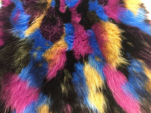 Fantastic Faux Fur Fabric Multicolor Design. Sold By the yard - KINGDOM OF FABRICS