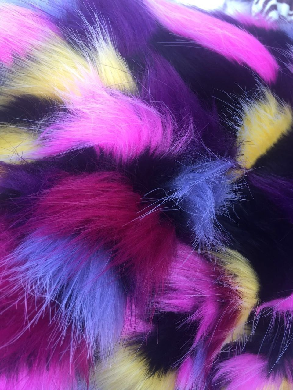 Multicolor Faux Fur Fabric French Design. Sold By The Yard - KINGDOM OF FABRICS
