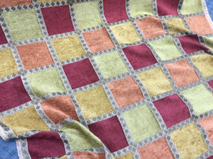 Chenille Upholstery Drapery Geometric Jacquard Home Decorating Fabric By Yard - KINGDOM OF FABRICS