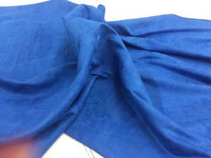 Microfiber Suede Fabric Upholstery Royal Blue By Yard - KINGDOM OF FABRICS