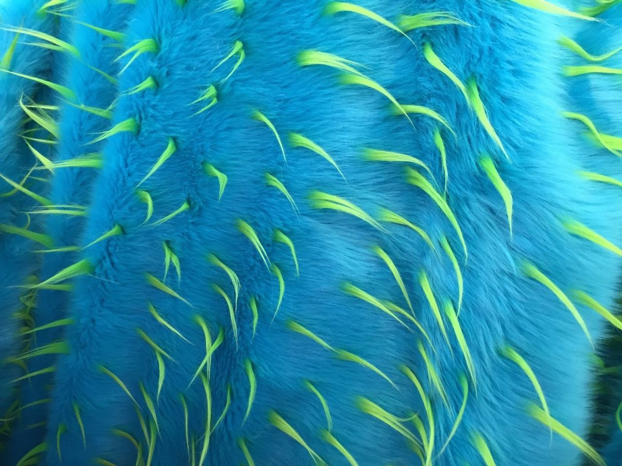 Luxurious Design Two Tone Spikes Faux Fur Fabric Turquoise. Sold By the yard - KINGDOM OF FABRICS