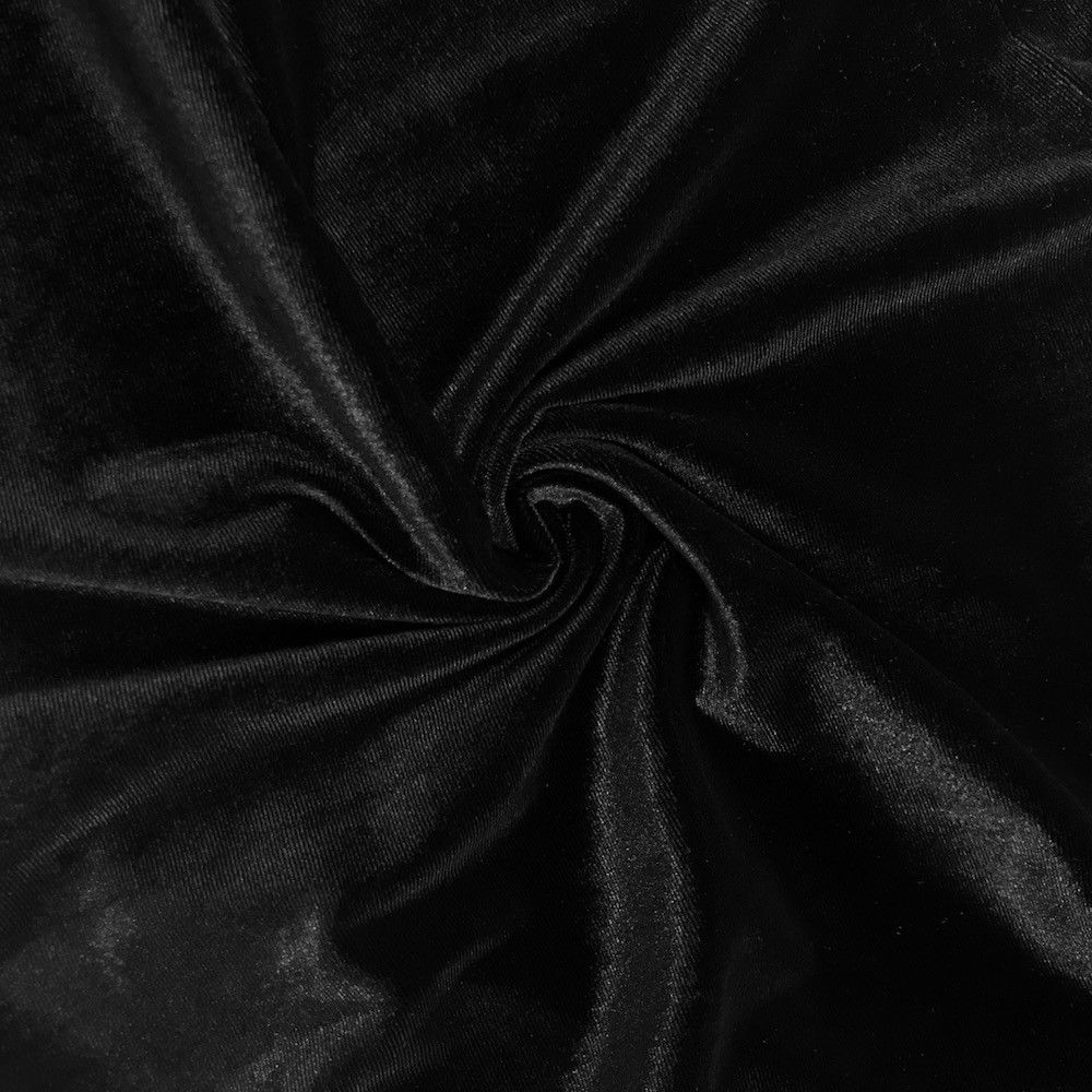 Stretch Velvet Fabric Black Fabric Velvet Fabric By The Yard Sewing Fabric - KINGDOM OF FABRICS