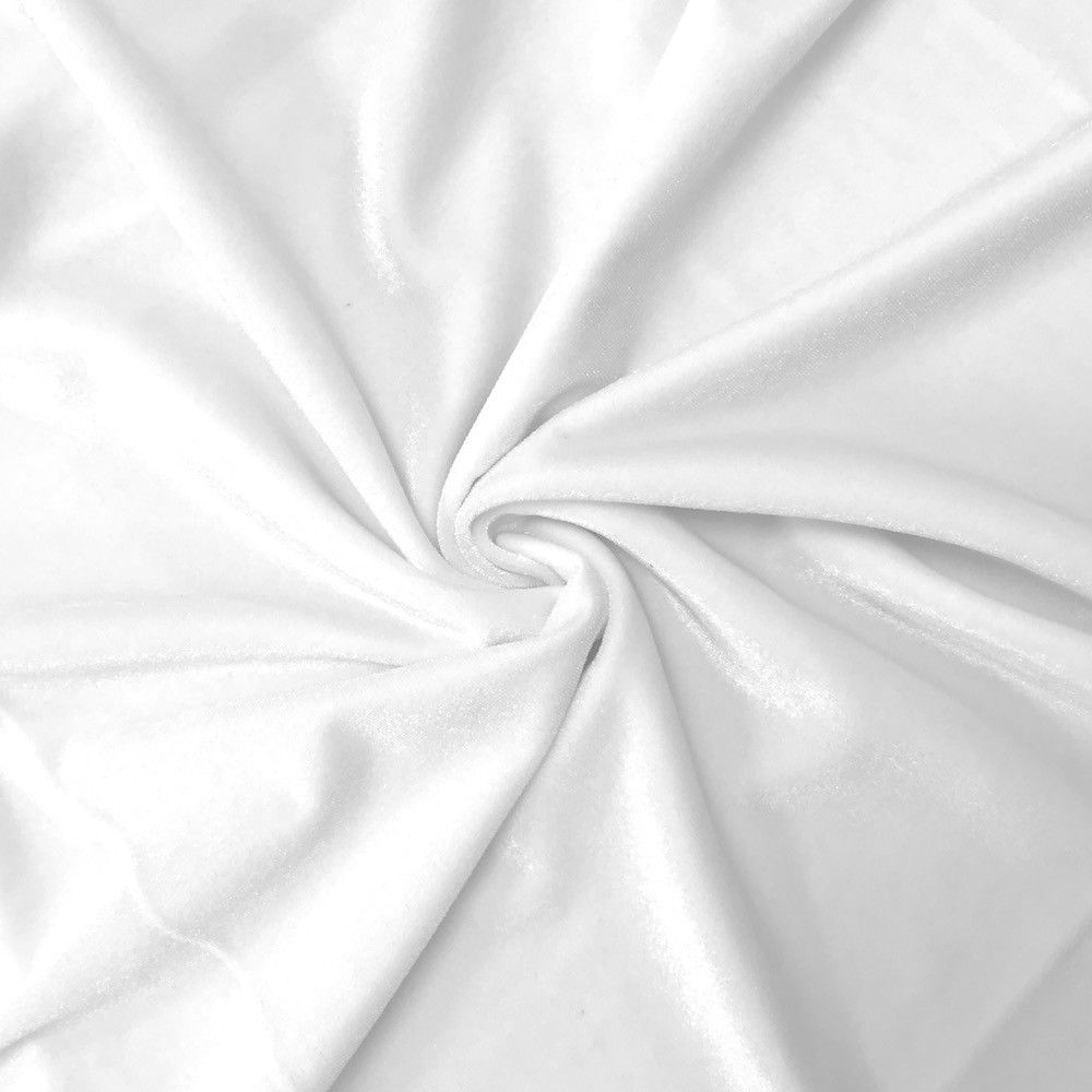 Stretch Velvet Fabric White Fabric Velvet Fabric By The Yard Sewing Fabric - KINGDOM OF FABRICS