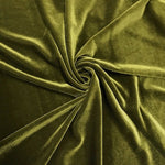 Stretch Velvet Fabric Olive Fabric Velvet Fabric By The Yard Sewing Fabric - KINGDOM OF FABRICS
