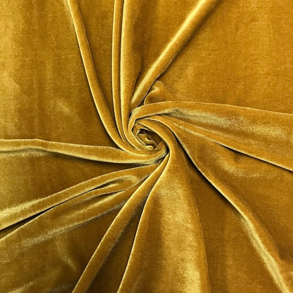 Stretch Velvet Fabric Gold Fabric Velvet Fabric By The Yard Sewing Fabric - KINGDOM OF FABRICS