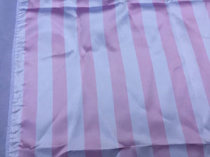 White/pink 1inch Stripe Soft/silky Charmeuse Satin Fabric. (20 Yards) - KINGDOM OF FABRICS
