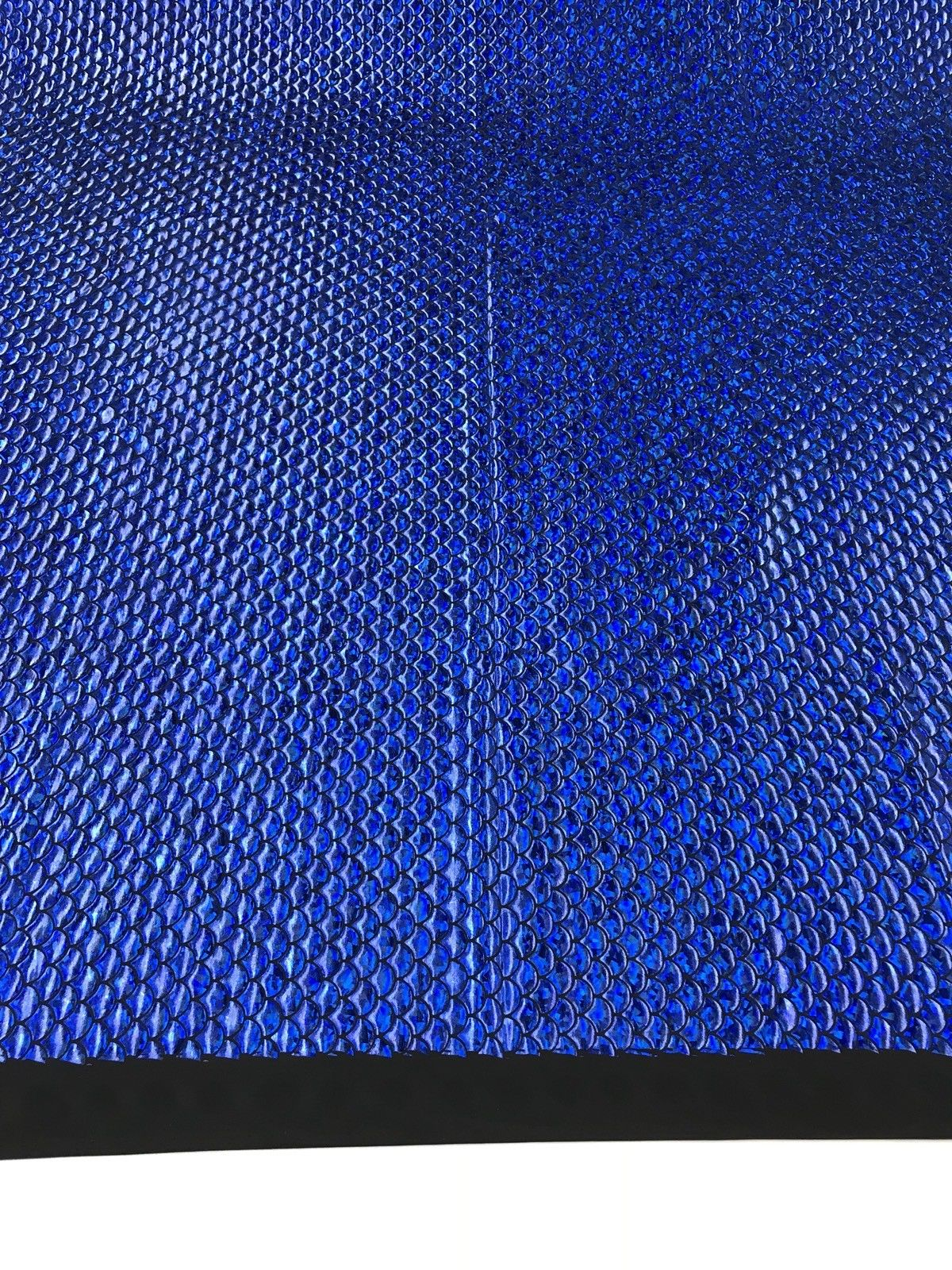 Mermaid Fabric Fish Tail Scale Sparkle Hologram Spandex Royal Blue By The Yard - KINGDOM OF FABRICS
