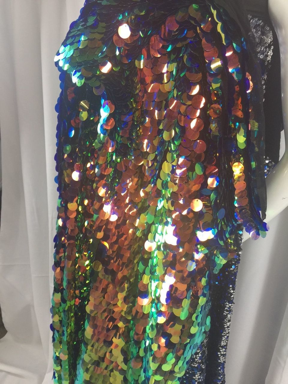 Sequins Fabric By The Yard Multi-Color Hologram Shiny For Dresses & Decorations - KINGDOM OF FABRICS