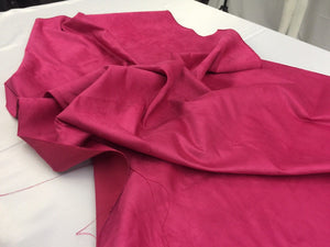 Microfiber Suede Fabric Upholstery Fuschia By Yard - KINGDOM OF FABRICS