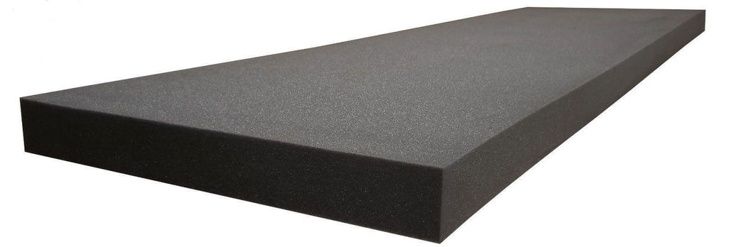 "SOUNDPROOF FOAM PROFESSIONAL ACOUSTICS FOAM 1""X24""X82"" UPHOLSTERY RUBBER FOAM SHEET CUSHION (SEAT REPLACEMENT, FOAM PADDING) CHARCOAL - KINGDOM OF FABRICS"